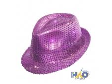 Шляпа с пайетками фиолетовая