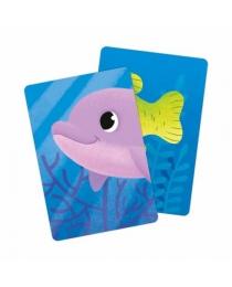 Игра карточная. Мемори для малышей. Океан. Половинки. 30 карточек. 8х12 см. ГЕОДОМ (ISBN нет)