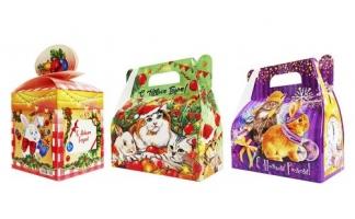 Коробка для конфет Новогодняя