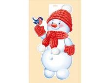 """Плакат """"Снеговик со снегирем"""" 92,336,00"""