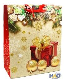 Новый Год 015/016/017/018/019.LС Пакет подарочный( 264х327х136)