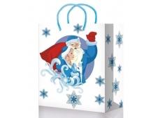 Новый Год1056/1086/1091/1096/1105 mix S Пакет подарочный ламинированный (110*137*60)