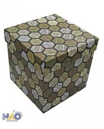 Набор коробок 3в1 куб 13х13х13/ 16х16х16 см (цвета в ассортименте)