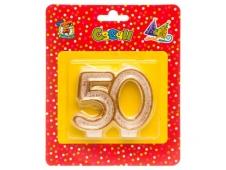 Свеча для торта. Значимые даты. Цифра 50 С-9744