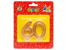 Свеча для торта. Значимые даты. Цифра 60 С-9745