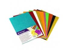 Материал для творчества фоамиран Alingar, А4, 2 мм, самоклеющийся, глитер, 10 цветов, ассорти, упаковка полиэтилен AL6583