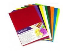 Материал для творчества фетр, Alingar, А4, 1 мм, 10 цветов, ассорти, упаковка полиэтилен AL6580