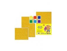 Набор цветной пористой резины с блестками, толщина - 2 мм, формат А4, 6 листов, 6 цв. TZ 10139