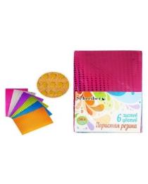 Набор цветной  пористой резины c пайетками, толщина - 2 мм, 6 листов, 6 цветов, А 4 S 5548