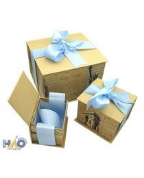 Коробка/набор 5 шт Винтаж с бантами  17*18*13,5 см