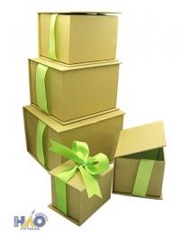 Коробка/набор 5 шт Крафт с бантами 17*18*13,5 см