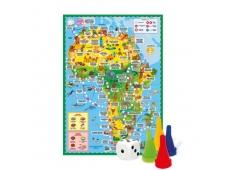 Игра-ходилка с фишками. Вокруг света. Африка. 59х42 см. ГЕОДОМ (ISBN нет)