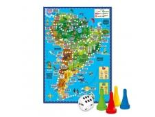 Игра-ходилка с фишками. Вокруг света. Южная Америка. 59х42 см. ГЕОДОМ (ISBN нет)