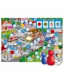 Игра-ходилка с фишками для малышей. Юный пешеход. 42х29,7 см. ГЕОДОМ (ISBN нет)