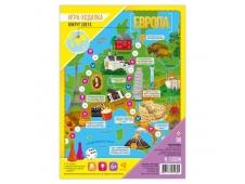 Игра-ходилка с фишками. Вокруг света. Европа. 59,5х42 см. ГЕОДОМ (ISBN нет)