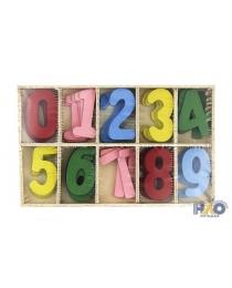 Декор из дерева - Цифры цветные 3,5х5 см (50 шт./уп.)