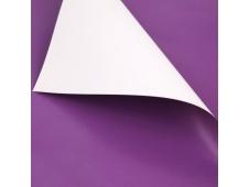 Пленка матовая двусторонняя в листах 60х60 см фуксия-белая (20 лист./уп.) ч25731
