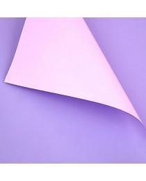 Пленка матовая двусторонняя в листах 60х60 см сиренево-лиловая (20 лист./уп.) ч25729