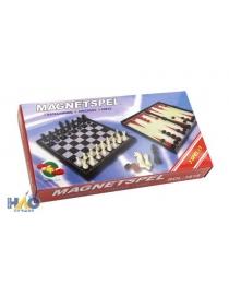 Шахматы, нарды, шашки магнитные пластиковые 3 в 1 (поле 19 см) P00074 М