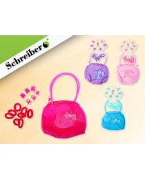 Подарочный набор: сумочка, резинки и заколки для волос, 8,5х10,5х1см.