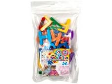 """Набор магнитов """"deVENTE. Английский алфавит на магнитах"""" пластиковых, цвета ассорти (7 цветов радуги - красный, оранжевый, желтый, зеленый, голубой, с"""