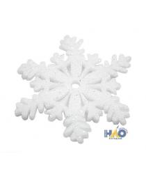 Снежинка поролоновая глиттер белая 10 см (2 шт./уп.) ч22066