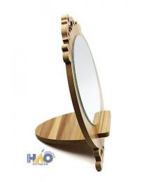 """Зеркало настольное """"Версаль"""", цвет натуральное дерево, d-13, высота 20см 465-042"""