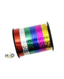 Лента упаковочная 0,8см 2,7м 1 цвет в катушке 6 цветов
