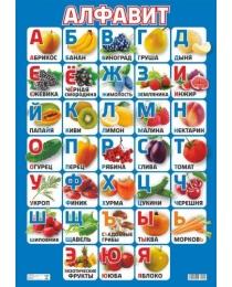 НЛО Плакат  А-2 Алфавит фрукты