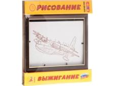 Доска для рисования (набор для росписи и выжигания) рис10(Самолет водный)РАМКА, арт.4620160415115