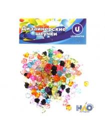 """Украшение декоративное  """"Кристаллы"""" 100гр разноцветные 645-0080"""