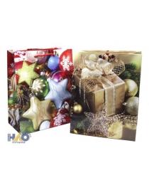 Новый Год 2145/2206/2211/2221/2230 mix М  Пакет подарочный ламинированный(180*227*100)