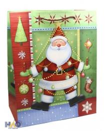 Новый Год L 3D mix 028/038/043/053/057 Пакет подарочный лам. (264*327*136)