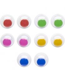 Глаза декоративные цветные, d=10 mm, 20 шт., п/п с е/п арт.FD020185