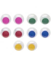 Глаза декоративные цветные, d=15 mm, 10 шт., п/п с е/п арт.FD020186