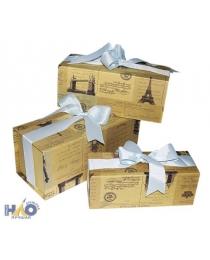 Коробка/набор 5 шт Круг средний с вер ручками Д=31 см h=12,5 см