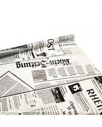 Пленка в ролике пр+цв.рис Газета бело-черн. 70 см 200гр