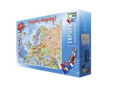Карта-пазл. Европа политическая. 260 дет. 33х47 см. ГЕОДОМ