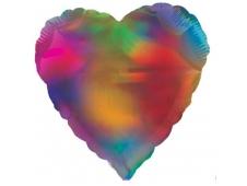 """Шар Ф 18"""" Сердце разноцветное 45 см"""