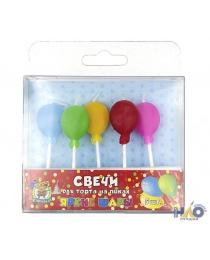 """Свечи для торта на пиках """"Яркие шары"""", 5 шт.  С-0445"""