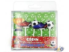 """Свечи для торта на пиках """"Футболист"""", 5 шт.  С-0451"""