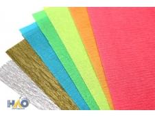 """Цветная крепированная бумага 7 цв., в папке флюор. """"Белка"""""""