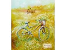 098740 Скетчбук 40 А5 Гребень S Велосипед (бумага офсет 120 г/кв.м) Премиум Фольга+4+0+Твин лак (40, 5 )