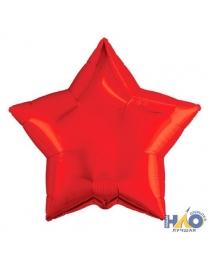 Шар Agura Звезда красный(21/53 см., в уп. 25 шт.) 750926