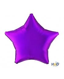 """Шар Ф 18"""" Звезда Металлик фиолетовый 45 см Ч07739"""