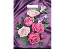 Пакет вырубной Атласные розы  (40*31 см) н00117527