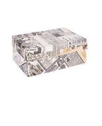 "Одинарная прямоугольная коробка ""Газета"" 21 х 14 х 9 см НПК-7491"
