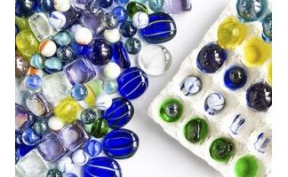 Стеклянные шарики марблс, камни
