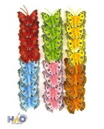 Бабочки декоративные 3,5 см (компл.=24 шт)