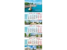 Календарь квартальный на 3-х пружинах 2021 00014 Севастополь Памятник затопленным кораблям